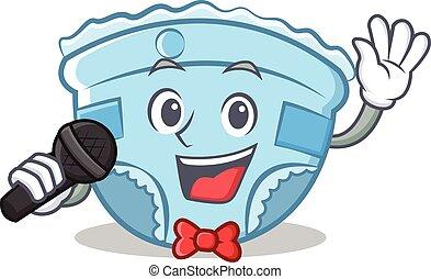 Singing baby diaper character cartoon