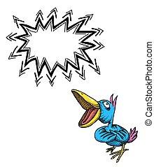singing bird-100 Cartoon image - Cartoon image of singing...