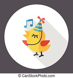 singing bird flat icon