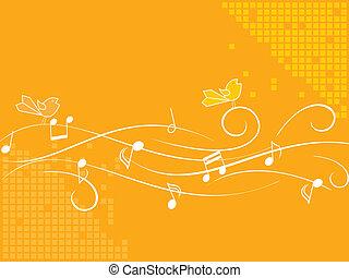 Singing birds - Birds singing on a stave
