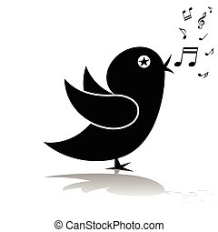 Singing birds-silhouette