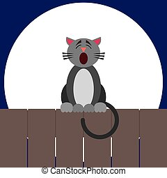 Singing Cartoon Cat