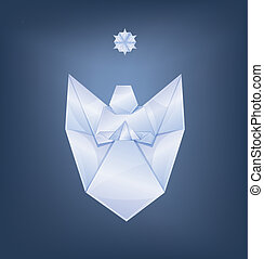 singing Christmas angel with first star origami - Christmas...