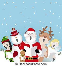 singing christmas characters