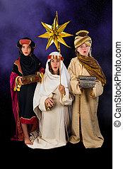 Singing christmas wisemen