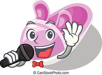 Singing cute baby shoes in shape cartoon