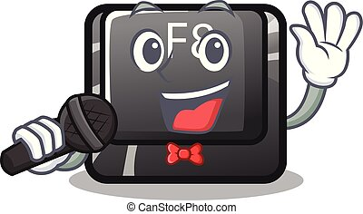 Singing f8 button installed on computer mascot