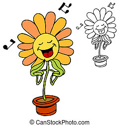 Singing Flower - An image of a singing flower.