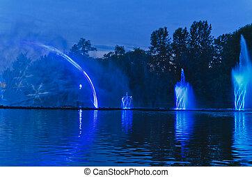 Singing fountain