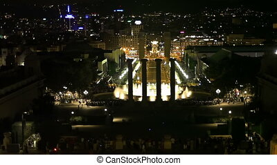 Singing fountains, Barcelona