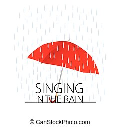 singing in the rain vector - singing in the rain color...