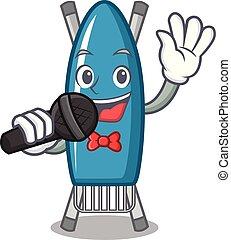 Singing iron board mascot cartoon