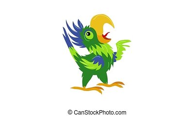 Singing parrot icon animation