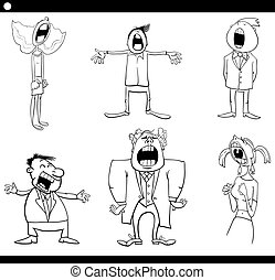 singing people coloring page