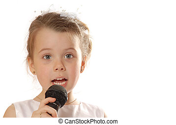 Singing - girl with microphone