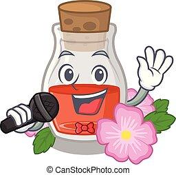 Singing rose seed oil the cartoon shape