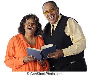Singing Senior Couple - A senior African American couple...