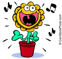 Singing sunflower.