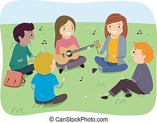 Singing Teens