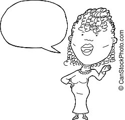 Singing Woman Outline