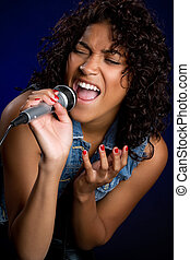 Singing Woman - Singing black woman