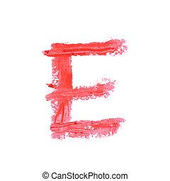 Single abc letter symbol isolated