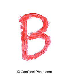 Single abc letter symbol isolated