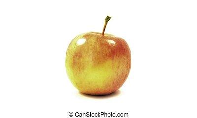 Single Apple Turning Slowly
