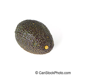 Single Avocado isolated on a white background - One Avocado...