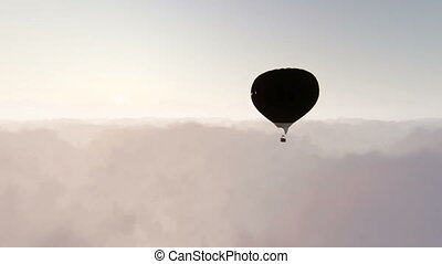 Single balloon above clouds