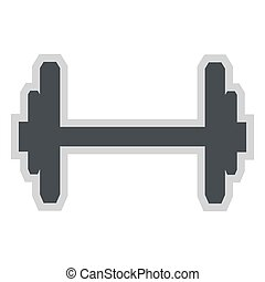 single barbell icon