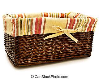 basket - Single basket for food against the white background