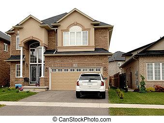 Single beautiful big new two story house