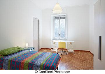 Single bedroom, simple interior design