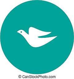 Single Bird - Bird, fly, animal icon vector image. Can also ...