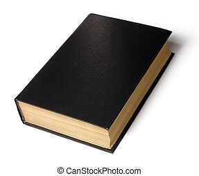 Single black book - Single old hard cover black book...