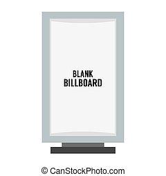 Single Blank Advertising Billboard.