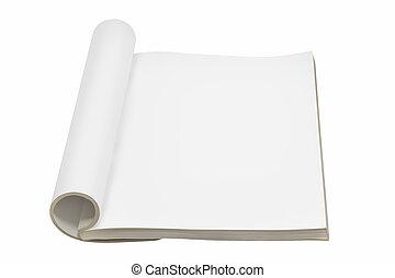 Single blank open book