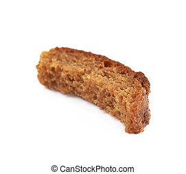 Single bread crouton isolated