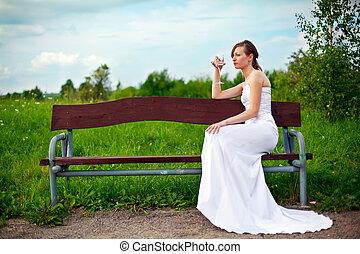 Single Bride Drinking Alcohol