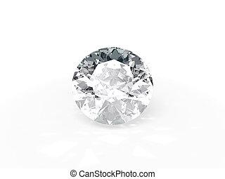 single brilliant - An isolated brilliant cut diamond on ...