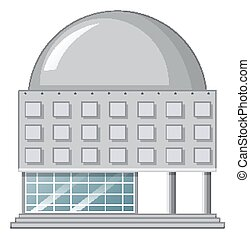 Single building with round roof illustration