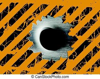 Single bullet holes