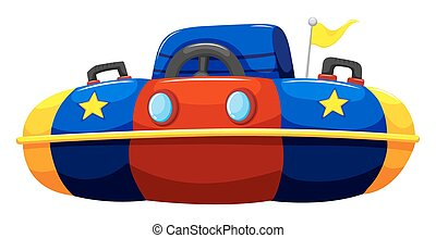 Single bump car with flag