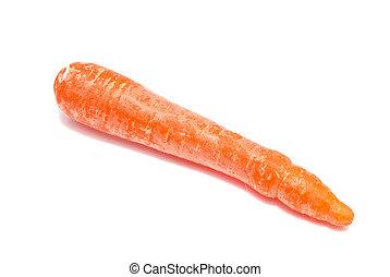 single carrot close-up