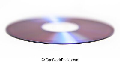 Single CD isolated on white background