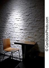Single chair in minimalist interior