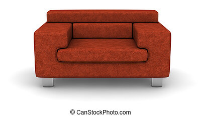 cloth sofa - single cloth sofa on white background .