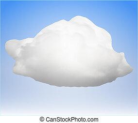 single cloud. vector