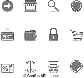 Single Color Icons - Ecommerce - Ecommerce icon set in...